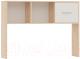 Надстройка для стола Империал Стелс 120 (дуб сонома/белый) -