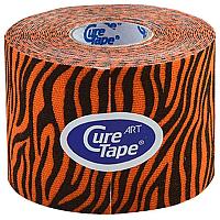 Кинезио тейп CureTape Art Tiger 163159 (оранжевый/черный) -