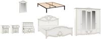 Комплект мебели для спальни Империал Барбара с ОМ ШК-5 (белый/золото) -