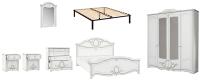 Комплект мебели для спальни Империал Барбара с ОМ ШК-4 (белый/серебристый) -