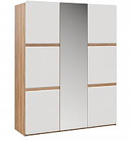 Шкаф Империал Дакота 3-х дверный (дуб сонома/белый глянец) -