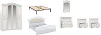 Комплект мебели для спальни Империал Диана с ОМ МИ ШК-4 (белый/золото) -