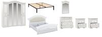 Комплект мебели для спальни Империал Диана с ОМ МИ ШК-5 (белый/золото) -