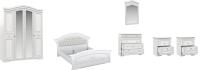Комплект мебели для спальни Империал Диана без ОМ МИ ШК-4 (белый/серебристый) -