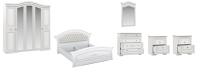 Комплект мебели для спальни Империал Диана без ОМ МИ ШК-5 (белый/серебристый) -
