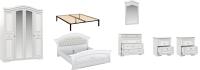 Комплект мебели для спальни Империал Диана с ОМ МИ ШК-4 (белый/серебристый) -