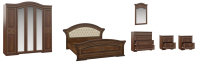Комплект мебели для спальни Империал Диана без ОМ МИ ШК-5 (орех/золото) -