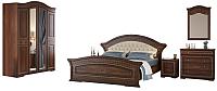 Комплект мебели для спальни Империал Диана с ОМ МИ ШК-4 (орех/золото) -