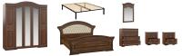 Комплект мебели для спальни Империал Диана с ОМ МИ ШК-5 (орех/золото) -