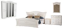 Комплект мебели для спальни Империал Каролина без ОМ 160 МИ ШК-5 (белый/золото) -