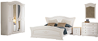 Комплект мебели для спальни Империал Каролина без ОМ 180 МИ ШК-4 (белый/золото) -
