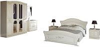 Комплект мебели для спальни Империал Франческа без ОМ МИ ШК-4 (береза/патина) -