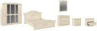 Комплект мебели для спальни Империал Франческа без ОМ МИ ШК-5 (береза/патина) -