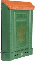 Почтовый ящик Цикл Премиум с орлом / 6026-00 (зеленый) -