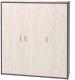 Шкаф Millwood Neo Loft ML-6/L (дуб белый Craft/металл черный) -