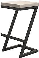 Табурет барный Millwood СДН-6 Бран (дуб беленый/металл черный) -