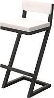 Стул барный Millwood СДН-6 Оберг (дуб белый/металл черный) -