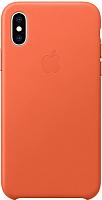 Чехол-накладка Apple Leather Case для iPhone XS Sunset / MVFQ2 -
