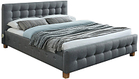 Двуспальная кровать Signal Barcelona 160x200 (серый/дуб) -