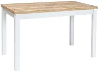 Обеденный стол Signal Adam 120 (дуб золотой/белый матовый) -