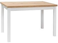 Обеденный стол Signal Adam 120 (дуб ланселот/белый матовый) -