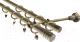 Карниз для штор Gardinia Цилиндр 2хр D19 / 48-2021053 (240см, латунь) -